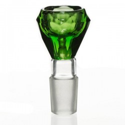Bowl diamond cut green color by Grace glass