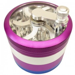 Crank Grinder Fuchsia-Blue 4 parts Ø60mm