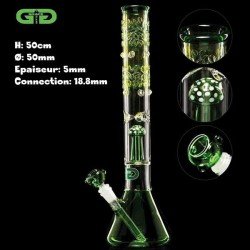Green Mushroom percolator Beaker Grace Glass Bong