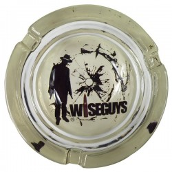 Glass ashtray Wiseguys