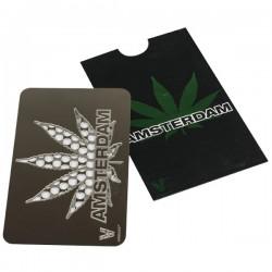 Grinder tarjeta moledora con el diseño de la hoja de cannabis
