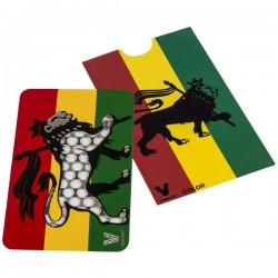 Lion rasta et couleurs Vert, Jaune, Rouge pour décorer ce grinder carte