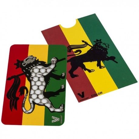 Lion rasta colors and Green, Yellow, and Red to decorate this grinder card