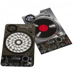 Tarjeta grinder metalicac con diseño de mezcladores para DJ