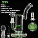 Bubbler Grace Glass Honeycomb perc verde