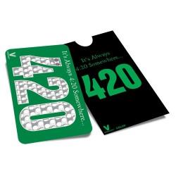 Grinder trajeta totalmente plano con el logo 420