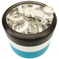 Crank Grinder Black-Blue 4 parts Ø60mm