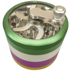 Crank Grinder Green-Fuchsia-Gold 4 parts Ø60mm