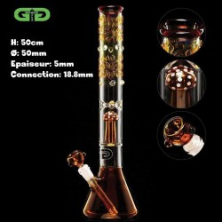 Umber Mushroom percolator Grace Glass bong