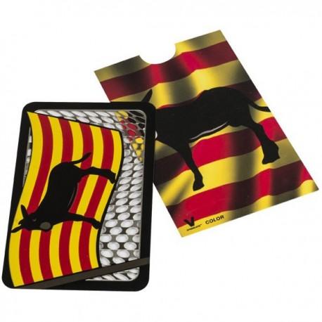 Grinder carte avec le drapeau et l'âne Catalan