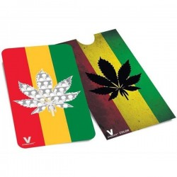 The grinder card rasta decorated with a leaf