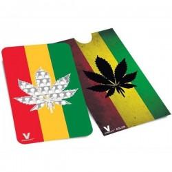 Grinder tarjeta con la hoja de cannabis de color Rasta