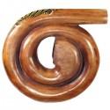 Spiral Didgeridoo painted Mahogany
