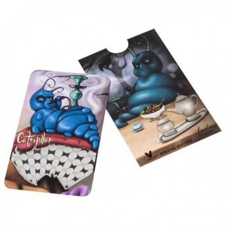 Tarjeta moledora de la Oruga azul, tamaño de una tarjeta de crédito