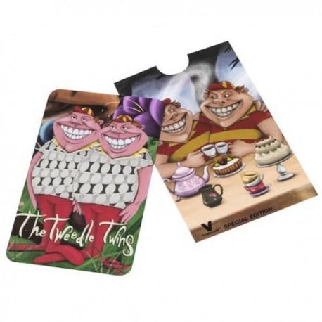 Grinder tarjeta con los gemelos Tweedledum y Tweedledee