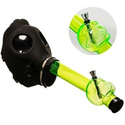 Green Gas Mask Bong
