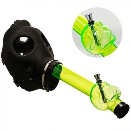 Máscara de Gas con bong de color verde