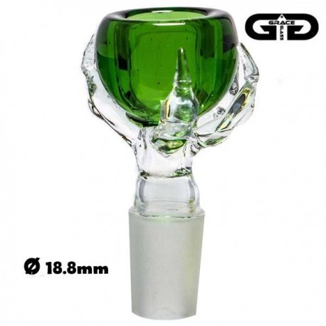 Douille Grace Glass verte en forme de patte de dragon