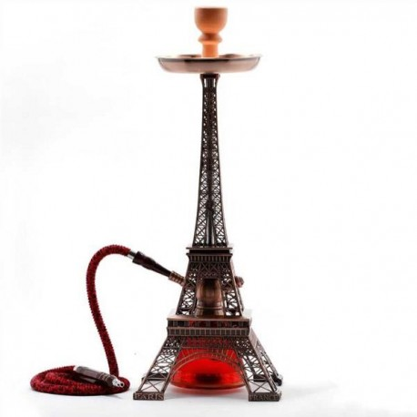 Shisha o pipa de agua réplica de la famosa Torre Eiffel