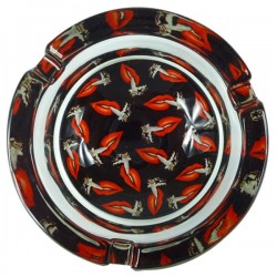 Glass ashtray HOTLIPS