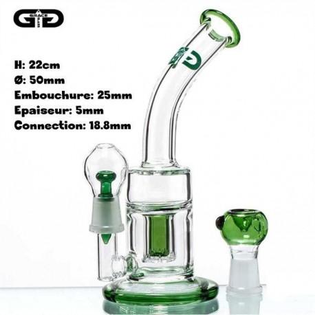 Magnifique bubbler avec une touche de vert qui lui donne toute son élégance
