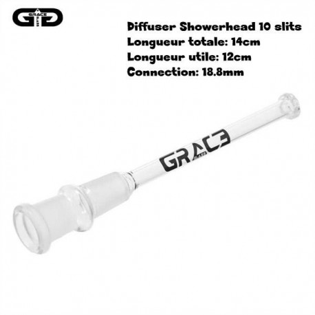 12cm Grace Glass downstem showerhead diffuser