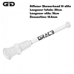 Downstem diffuser from grace glass 16cm