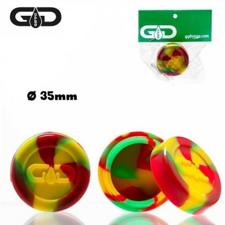 Silicone Jar by Grace Glass, rasta color