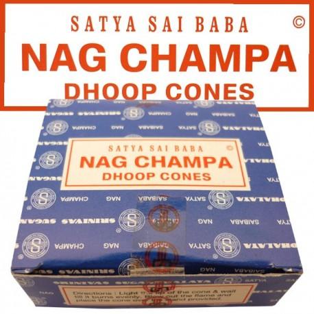 Nag champa bleu encens en cône