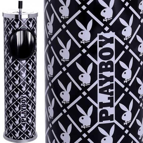 Cendrier corbeille Playboy Noir & blanc ou cendrier sur pied