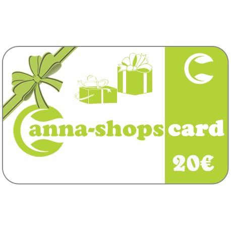 Tarjeta de regalo de un valor de 20€