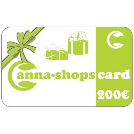Tarjeta de regalo de un valor de€200