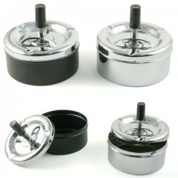 Spinning Ashtray Black or Silver