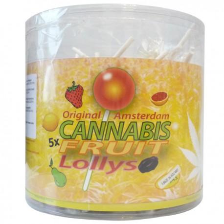 Sucettes Lollypop Cannabis - 5 fruits au extraits de chanvre