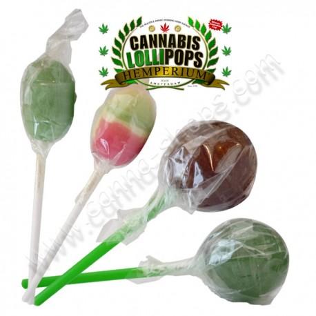 40 sucettes Lollypop Cannabis et Hash