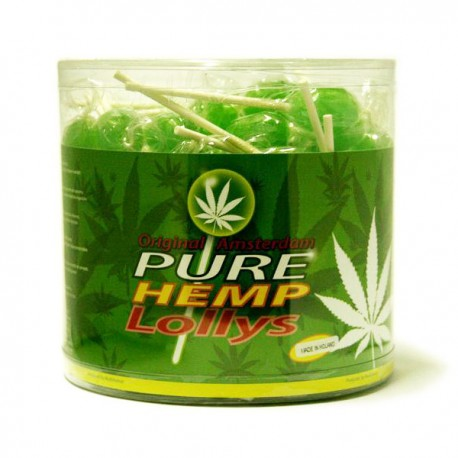 Sucettes Cannabis Lollipop Pure Hemp goût Chanvre
