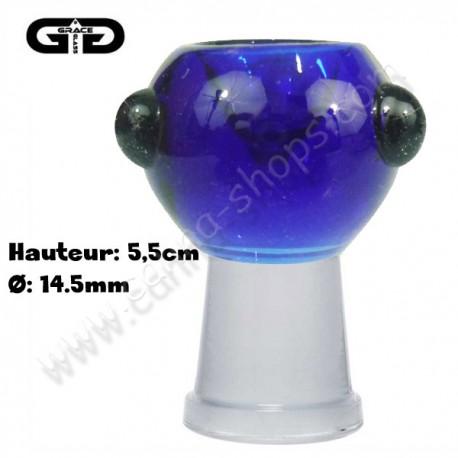 Douille femelle 14,5mm Grace Glass de couleur Bleue