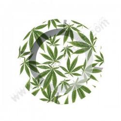 Cendriers en métal feuilles de cannabis