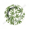 Metal ashtray cannabis Leaves