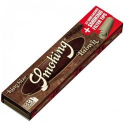 Feuilles à rouler Smoking Brown + tips, carnet de feuilles avec filtres en carton