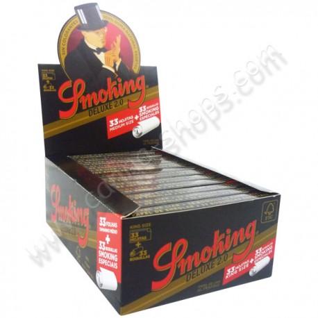 Boite de Smoking Deluxe 2 en 1 feuilles et filtres