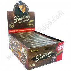 Boite de Smoking Brown + Tips, feuilles à rouler avec filtres en carton naturel et non blanchis