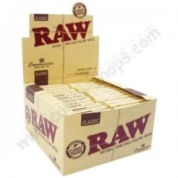 Boite de Raw connoisseur, feuilles à rouler et filtres en carton