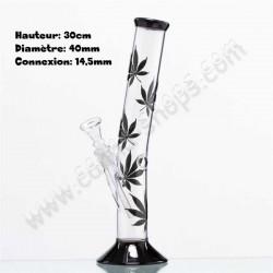 Bang Hangover Black 30cm avec des feuilles de cannabis