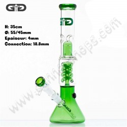 Grace Glass bong spiral green percolator