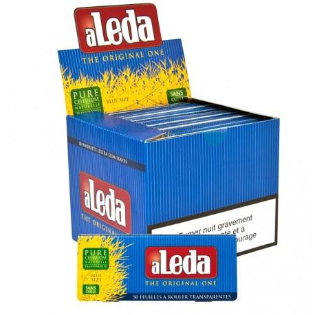 Boite de feuilles à rouler transparentes Aleda Blue