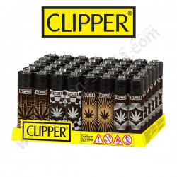 4 briquets Clipper Cannabis Gold & Silver