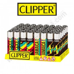 Briquets Clipper Rastafari par lot de 4