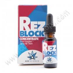 Rez Block concentré nettoyant pour bang et pipe à eau.