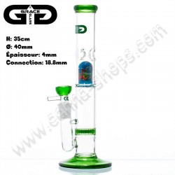 Bang en verre avec percolateur Grace Glass Flame Cane